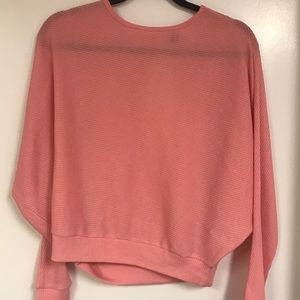 BRAND NEW! Pink Long Sleeve Top w/ Open Back